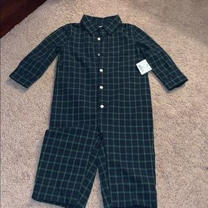 Polo 9M 9 month green plaid tartan onesie outfit